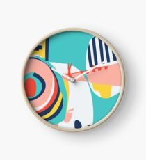 Modern Minimalist Blocking Colors Clock