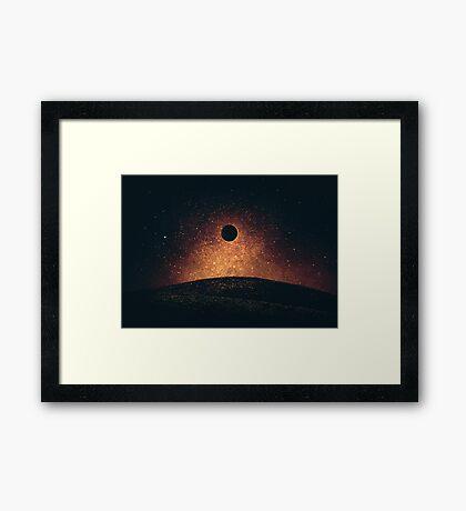 Eclipse de Luna Lámina enmarcada