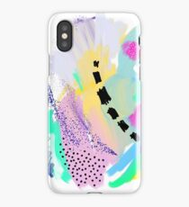 Abstract Painting in Pastel Colors iPhone Case