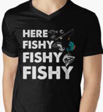 Fishing Dad Shirt, Boat, Fishing Shirt, Salmon, Boating, Bass Fishing, Funny Fishing Gifts, Fly Fishing Men's V-Neck T-Shirt