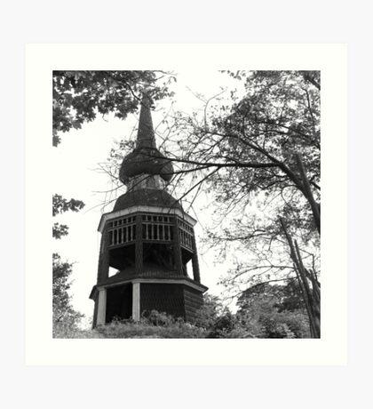 Old wooden tower, Stockholm Art Print