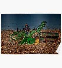 JD Corn Picker Poster