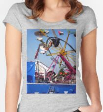 through the hoop Women's Fitted Scoop T-Shirt