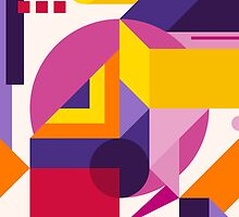 Abstract modern geometric background. Composition 14 by Yury Velikanov