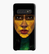 ornate woman Hülle & Klebefolie für Samsung Galaxy