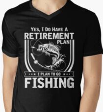 fishing rod, fishing parody, river, lake, fishing gear, fishing shirts, fishing t shirts, fishing shirt Men's V-Neck T-Shirt