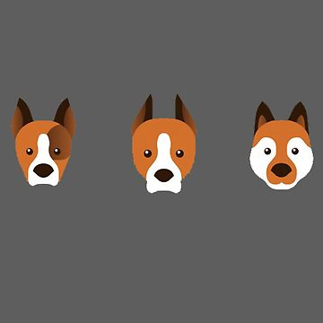 Dog faces by darklordKiba