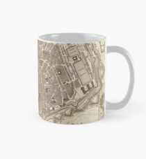 Vintage Map of Antwerp Belgium (1845) Mug