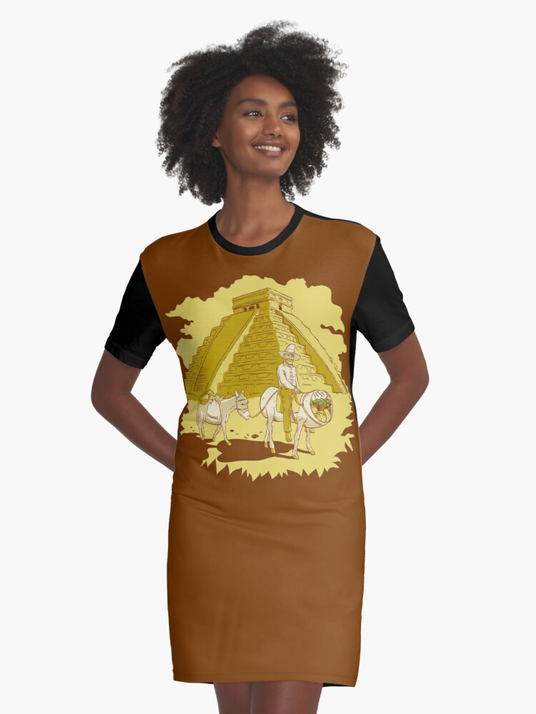 El Burrito Original (The Original Burrito) Graphic T-Shirt Dress Front