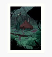 Little Witch House Art Print