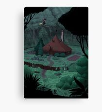Little Witch House Canvas Print