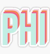 RETRO PHI Sticker