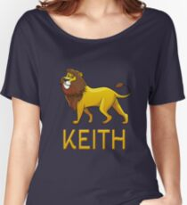 Keith Lion Drawstring Bags Women's Relaxed Fit T-Shirt