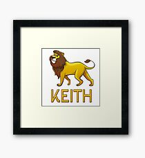 Keith Lion Drawstring Bags Framed Print