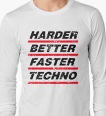 Harder Better Faster Techno #1 Langarmshirt