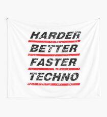 Harder Better Faster Techno #1 Wandbehang