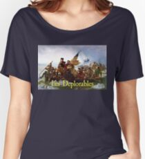 Les Deplorables Crossing the Delaware Women's Relaxed Fit T-Shirt