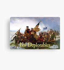 Les Deplorables Crossing the Delaware Canvas Print