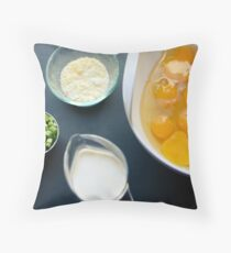 Quiche Ingredients Throw Pillow