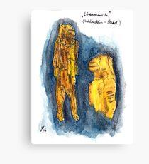 Lion-man of Hohlenstein-Stadel Canvas Print