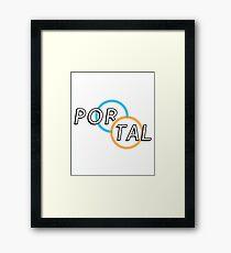 Portal Logo Framed Print