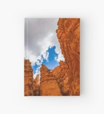 Hoodoos from bottom Hardcover Journal