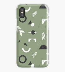Stylish abstract geometry iPhone Case