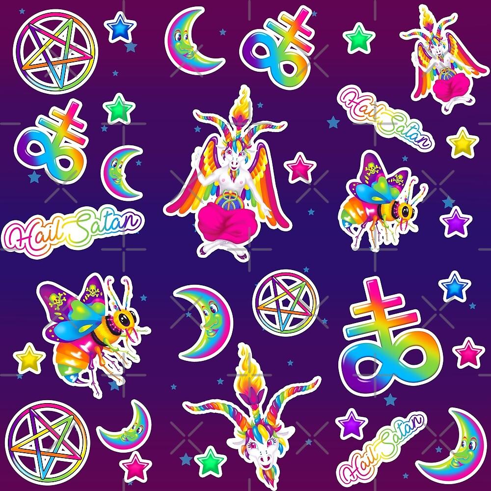 a4057552885 1997 Neon Rainbow Baphomet