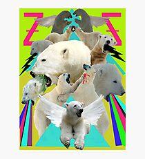 Flying Polar Bears Vomit Rainbows and Black Lightning Photographic Print