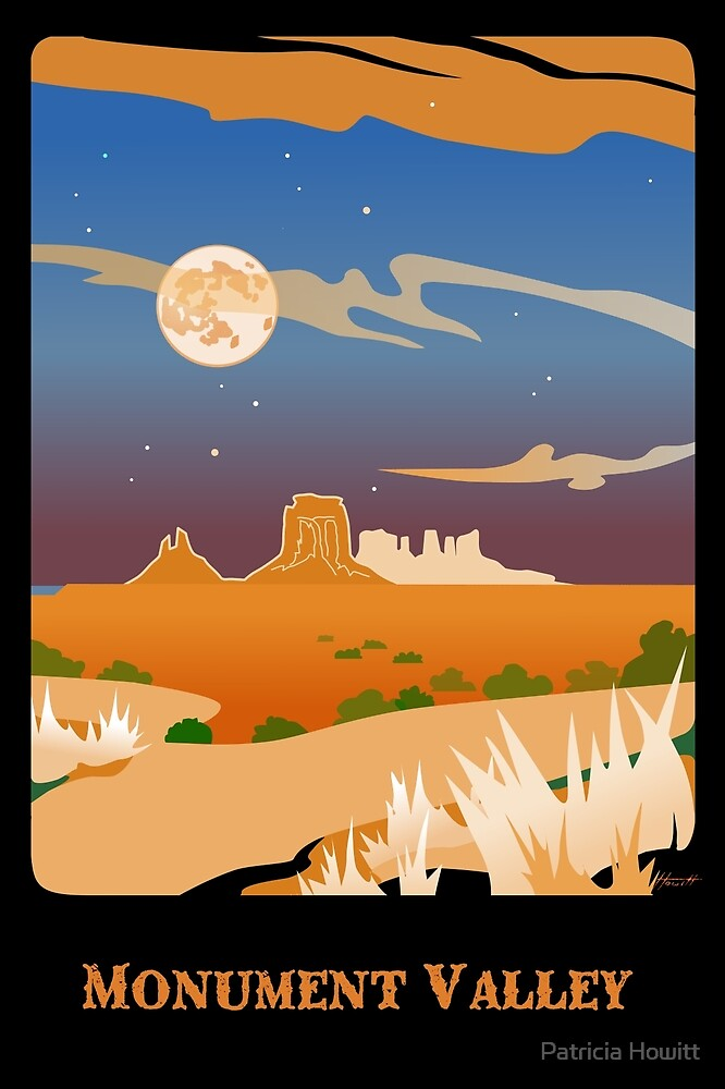 Monument Valley Moon 2 by Patricia Howitt