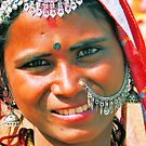Young Girl in Jaisalmere, India 2008 by Tash  Menon