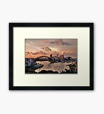 Sailors Warning -Sydney - Moods Of A City - The HDR Experience Framed Print