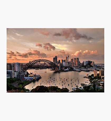 Sailors Warning -Sydney - Moods Of A City - The HDR Experience Photographic Print