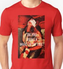 Bloody Holly Design Slim Fit T-Shirt