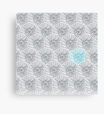 Vector background pattern of snail Canvas Print