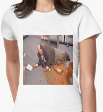 Me Trying to handle life Womens Fitted T-Shirt