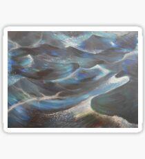 Blue Ocean Waves Sticker