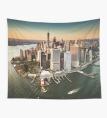 aerial view of manhattan Wall Tapestry