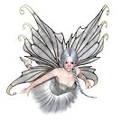 Ballerina Winter Fairy Flying by algoldesigns