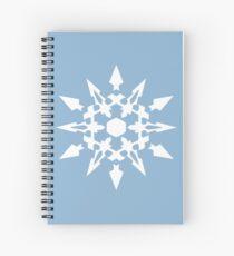 White Snowflake Symbol Spiral Notebook
