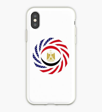 Egyptian American Multinational Patriot Flag Series iPhone Case