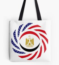 Egyptian American Multinational Patriot Flag Series Tote Bag