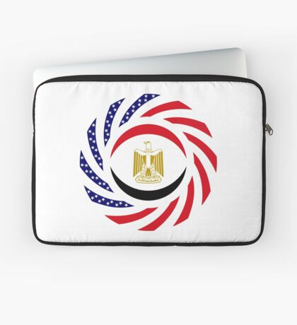 Egyptian American Multinational Patriot Flag Series Laptop Sleeve