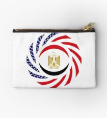 Egyptian American Multinational Patriot Flag Series Zipper Pouch