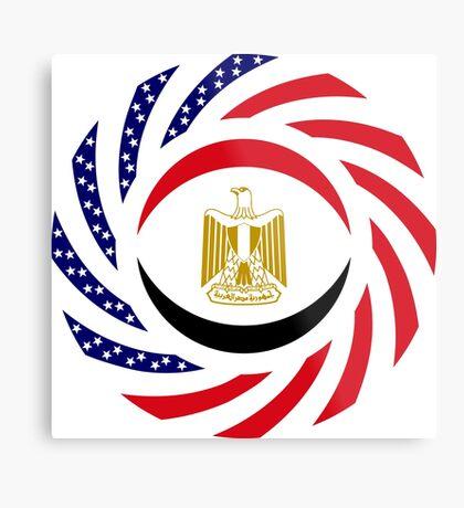 Egyptian American Multinational Patriot Flag Series Metal Print