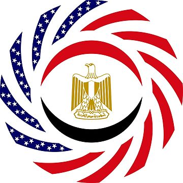 Egyptian American Multinational Patriot Flag Series by carbonfibreme
