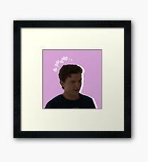 Peter Parker - Pink Heart Framed Print