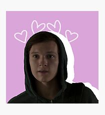 Peter Parker - Pink Hearts Photographic Print