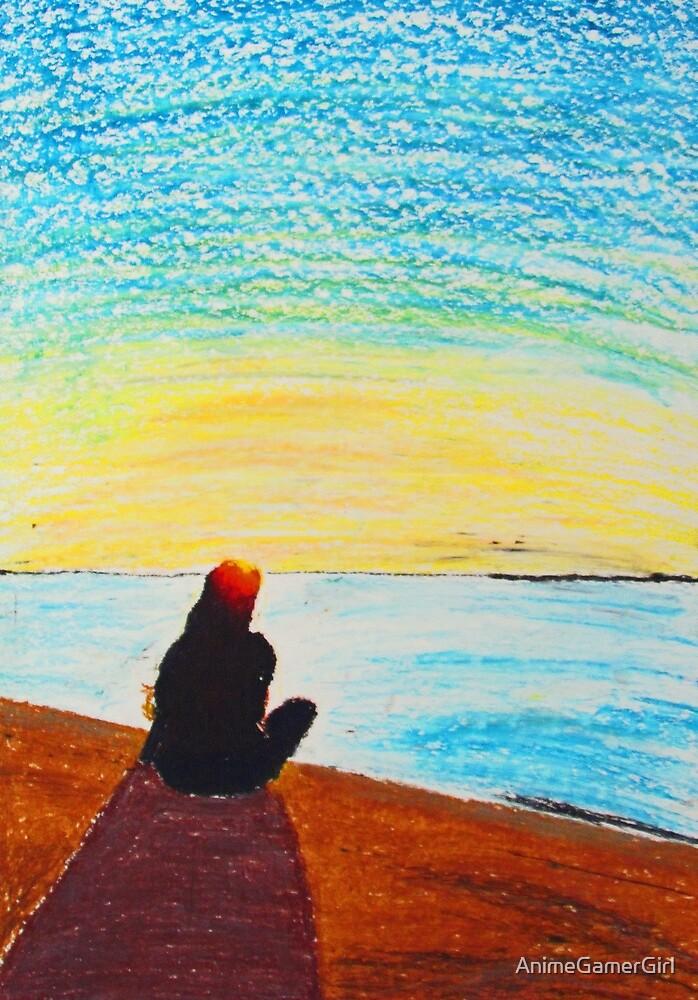 Beach Sunset by AnimeGamerGirl