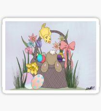 Easter Bunny Mischief  Sticker